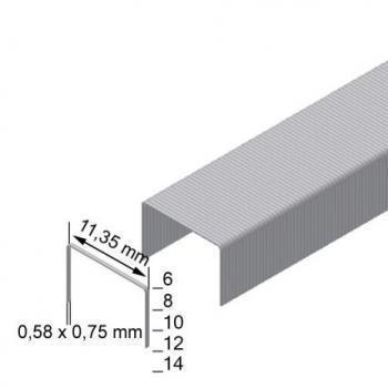 Скоба обивочная Prebena тип VX ширина 11.3мм